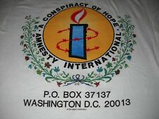 U2 Sting Bryan Adams Peter Gabriel Amnesty International 1986 Concert T-Shirt-Xl