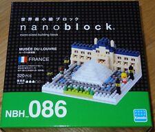 Louve Museum Nanoblock Micro-Sized Building Block Brick Kawada NBH086 France