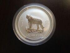 2007 (2010) Australia Lunar 1 Tiger $1 1oz .999 Fine Silver Bullion Coin