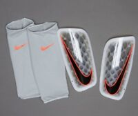 Mercurial Flylite Football Shin Pads Guards White Grey Black RRP £50 Large B3319