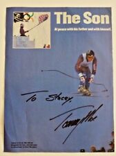 Tommy Moe Olympic Skiing Signed Autographed 8x11 Mag Photo PSA Guaranteed #2
