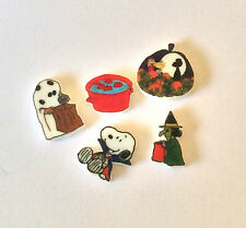 5 SNOOPY  FLOATING LOCKET CHARMS CHARLIE BROWN HALLOWEEN APPLES GHOST