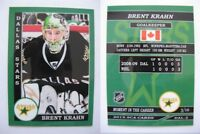 2015 SCA Brent Krahn rare Dallas Stars goalie never issued produced #d/10