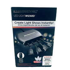 New Illuminations LED Light Wizard 4 Ports Transforms 8000 Lights Remote Control