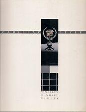 CADILLAC 1990 Stati Uniti Mercato Opuscolo SeVille Eldorado Deville Fleetwood ALLANTE