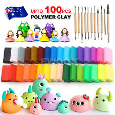 DIY Craft Malleable Fimo Polymer Modelling Soft Clay Block Set 50PCS
