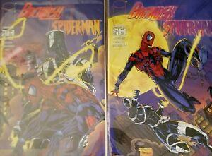 BACKLASH SPIDERMAN  COMIC BOOK  # 1 & 2 Venom SET RUN IMAGE SPIDER MAN