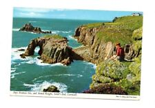 Cornwall - Lands End, Enys Dodnan Isle and Armed Knight - Postcard Franked 1970
