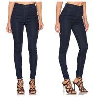 Free People Women's Size 27 Hi-Rise Dark Wash Skinny Jeans