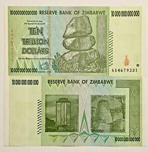 used Circulated Zimbabwe $100 Trillion Dollar Banknote 2008
