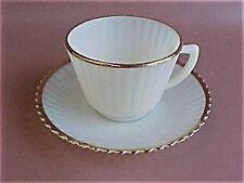 MacBeth Evans Depression Glass Monax PETAL PETALWARE 22k Gold Trim Cup Saucer
