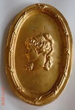 LARGE OVAL ARMOIRE FRENCH ORMOLU FURNITURE GOLD MOUNT