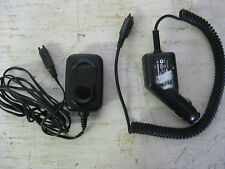 MOTOROLA CELL PHONE 12V DC CAR CHARGER AND 100 - 240V AC HOME CHARGER