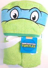 Nickelodeon Teenage Mutant Ninja Turtles Leonardo Hooded Towel New