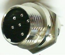 Microphone 6 broches châssis Socket Cb Ham Radio