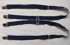 Braces Suspenders Mens Vintage CLIP ON 1970s SKA PLAIN NAVY