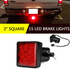 "Universal 2"" Car Trailer Truck 15 LED Brake Tail Light Square Brake Lights"