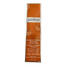 NEW Pūrlisse PUMPKIN + GINGER Detoxifying Charcoal Mask SEALED 2.5 oz MSRP $48