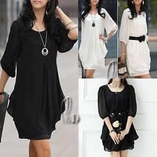 Chiffon Short Formal Solid Dresses for Women