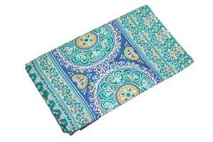Indian Handmade Queen Cotton Kantha Quilt Throw Blanket Bedspread Suzani Print