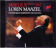 Lorin MAAZEL: SIBELIUS Sinfonie No.1 & 7 SONY CD 1993 Pittsburgh Symphony