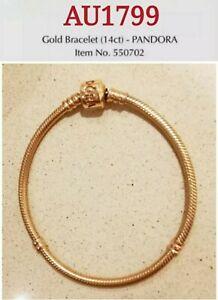 20cm Pandora 14K Gold Bracelet, 550702