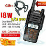 2x Baofeng UV-9R Plus VHF UHF Walkie Talkie Dual Band Way Handheld 18W H4H6