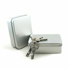 1PC Small Metal Tin Silver Storage Box Case Organizer For Money Coin Candy Key