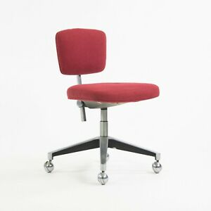 Rare 1961 Florence Knoll Associates Max Pearson Secretarial Chair Red Model 46