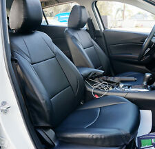 MAZDA 3 2004-2016 IGGEE S.LEATHER CUSTOM FIT SEAT COVER 13 COLORS AVAILABLE