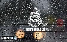 Don't Tread on Me White Vinyl Sticker - Gadsden Flag Patriot 2A Qanon Infowars