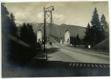 1940s Photo Canada Bc Vancouver Entrance to Lions Gate Bridge Dashboard View #2
