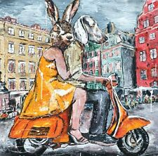GILLIE AND MARC. Direct from artists. Authentic Art Print 'Orange' 'Vespa' 'Love