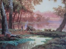 J. W. Curtis. On the Hawkesbury River, Time for a Billabong.