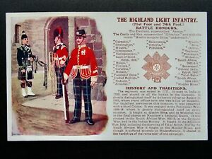 History & Tradition THE HIGHLAND LIGHT INFANTRY Postcard Gale & Polden No.93b