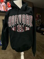Harvard University Sweatshirt Hoodie Black Cotton Size Large