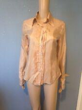 Chemise en soie beige Mango taille M neuf