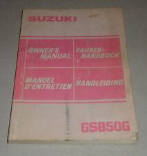 Betriebsanleitung Suzuki Motorrad GS 850 G Stand 08/1983