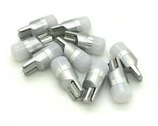 T10 501 W5W LED bulbs frosted lens 12v 24v xenon white lights 194 168