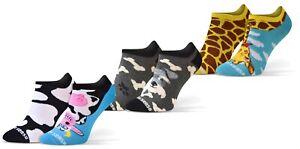 Lustige Sneaker Socken Baumwolle Bunte Füßlinge Damen Herren 3 Paar Funny Socks