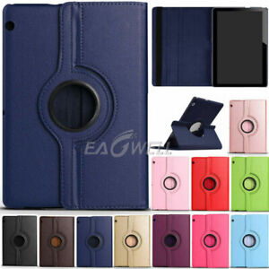 """For Huawei MediaPad T3 T5 M5 M6 7"""" 8"""" 9.6"""" 10.1 10.8 Rotating Leather Case Cover"""