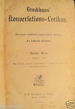 Brockhaus` Konversations-Lexikon 14. Auflage 2. Band 1894 Konversationslexikon