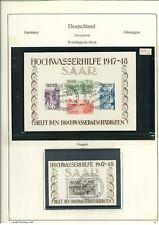 Saarland 1947-1959 komplett gestempelt - vieles BPP geprüft - Mi. 10.000,-