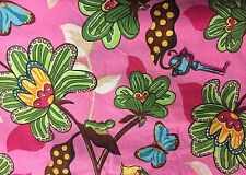 Funky Flowery Butterfly Fabric 3 Pieces Different Sizes Curtains? Quilt?