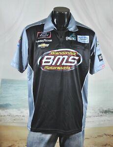 Brandon Brown NASCAR Pit Crew SHIRT Sz L BMS Brandonbilt Motorsports Xfinity