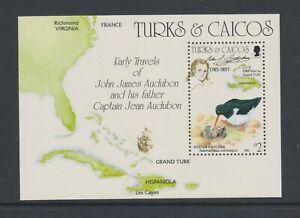 Turks & Caicos - 1985, J Audubon, Vögel Blatt - MNH - Sg MS833
