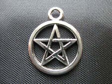 50 x Pentagram Charms -Tibetan Silver Pagan,Celtic,Wicca,Gothic - FAST FREE POST