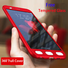 For Xiaomi Mi A1 5X 4X 4A 360° Full Cover Shockproof Hard Case + Tempered Glass