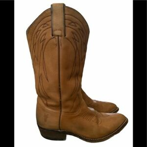 Frye Women's Billy Pull On Leather Western Cowboy Boots - 7.5 B