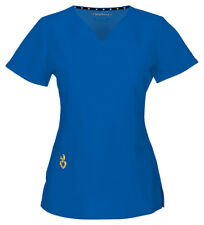 HeartSoul Women's Wrapped Up New Short Sleeve V Neck Medical Scrub Top. 20971A